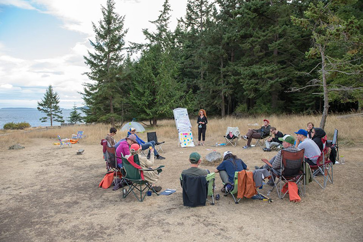 August 5-7 2015 DGW Strategic Planning and Team Building Retreat on Saltspring Island