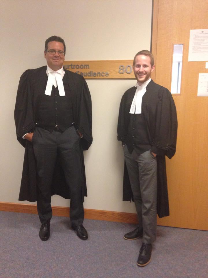 DGW Director, John Gailus, and DGW Associate, Matthew Nefstead, at the Supreme Court of Canada