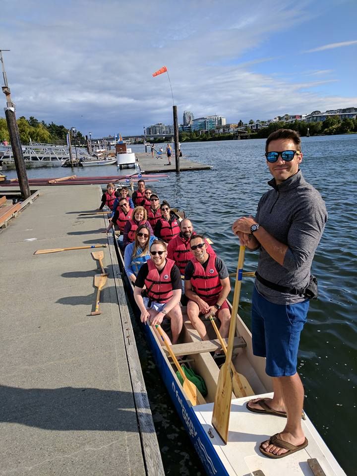 Dragon Boat fun for John Gailus' birthday! Go Team!