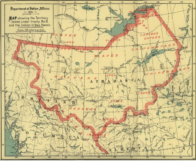 Map - Treaty 8 - 1900